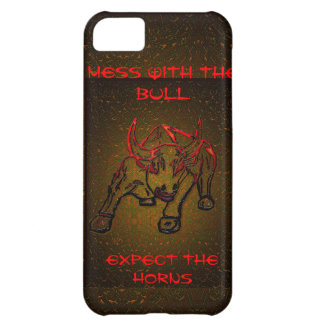 MESS WITH THE BULL EXPECT THE HORNS iPhone 5C CASE