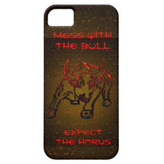 MESS WITH THE BULL EXPECT THE HORNS iPhone SE/5/5s CASE