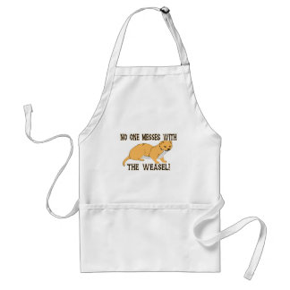 Mess With The Weasel Adult Apron