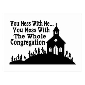 Mess With Whole Congregation Postcard