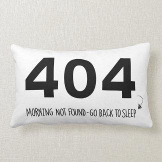 message 404 & 301 for sleepy web designers lumbar pillow