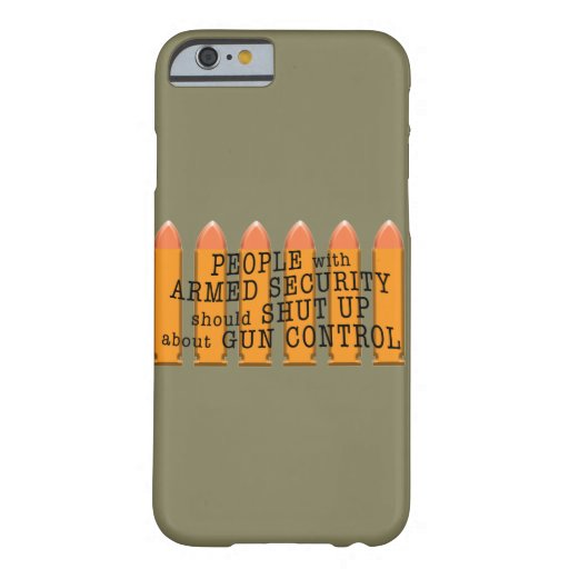 Message about gun control using bullets barely there iPhone 6 case