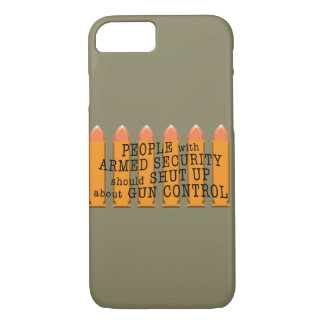 Message about gun control using bullets iPhone 7 case