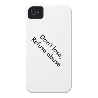 Message against abuse iPhone 4 Case-Mate case
