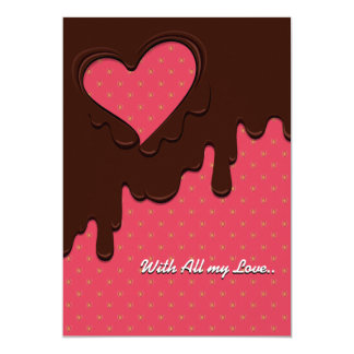 Message card for Valentine's Day (Pink)