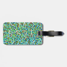 Message Double Luggage Tag at Zazzle