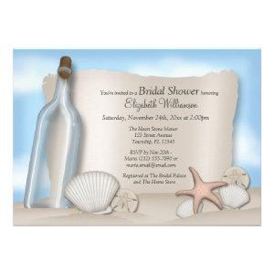 Message from a Bottle Beach Bridal Shower Custom Invites