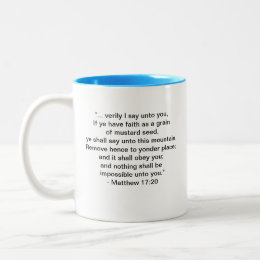 MESSAGE FROM GOD (WAY BEYOND) Two-Tone COFFEE MUG