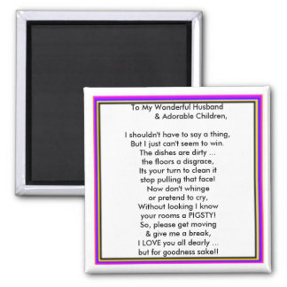 Message From Mum 2 Inch Square Magnet