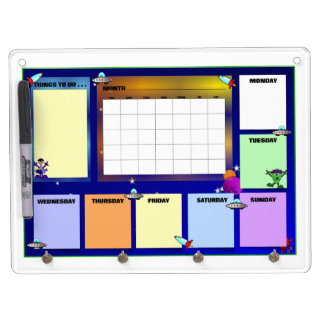 Message from Outer Space Dry Erase Board With Keychain Holder