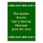 Message from the Easter Bunny Card