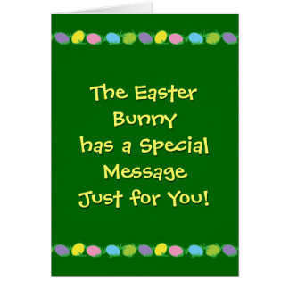 Message from the Easter Bunny Stationery Note Card