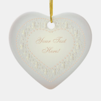 Message From The Heart-White Gold Rose 2-Ornament Ceramic Ornament