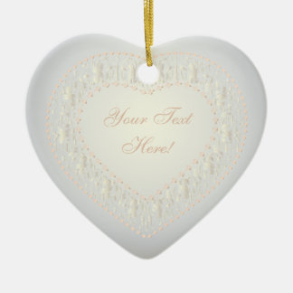 Message From The Heart - White Gold Rose - Ornamen Ceramic Ornament