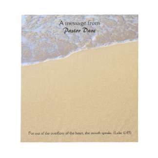 Message From The Pastor, Beach Sand Note Paper Notepad