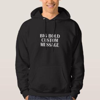 message hoodie