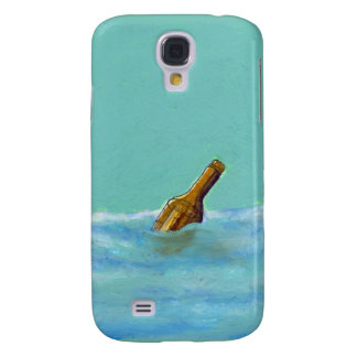Message in a bottle at sea oil pastel drawing art galaxy s4 cover