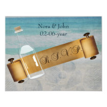 Message in a bottle Beach Wedding Card