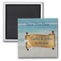 Message in a bottle Beach Wedding Magnet