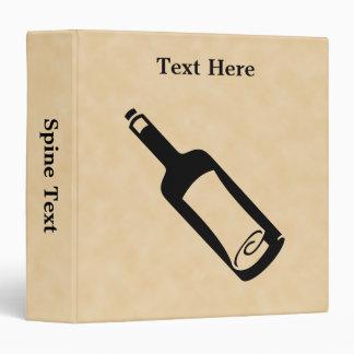 Message in a bottle. binder