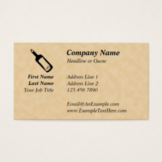 Message in a bottle. business card