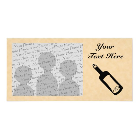 Message in a bottle. card