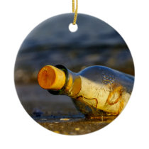 Message In A Bottle Ceramic Ornament