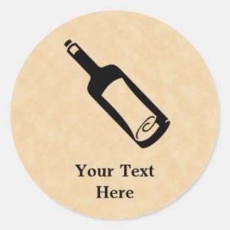 Message in a bottle. classic round sticker