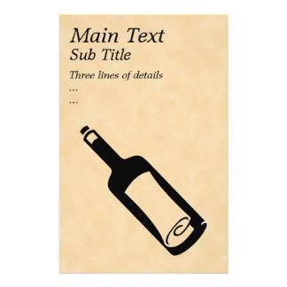 Message in a bottle. flyer