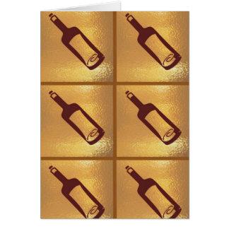 MESSAGE in a Bottle : Golden Pattern Matrix Greeting Card