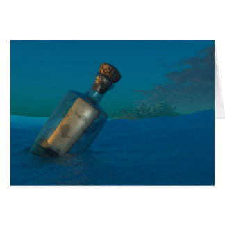 Message In A Bottle Greeting Cards