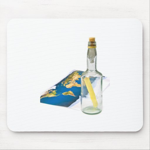 message in a bottle mouse pad