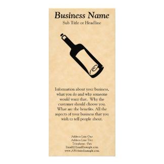 Message in a bottle. rack card