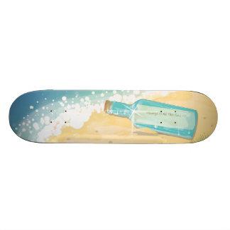 Message in a Bottle Skate Board