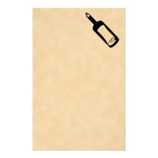 Message in a bottle. stationery