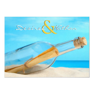 message in a bottle wedding invitations message in a bottle invitations amp announcements zazzle 5841