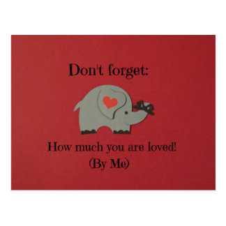 Message of love for someone special. postcard