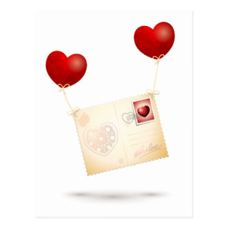 Message of Love Post Card