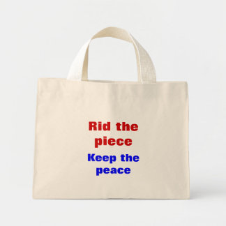 Message of peace tote bag