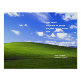 Message of peace poster
