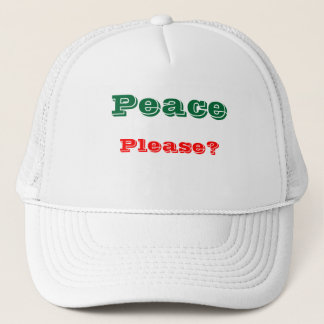 Message of peace trucker hats