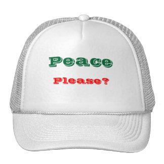 Message of peace trucker hats