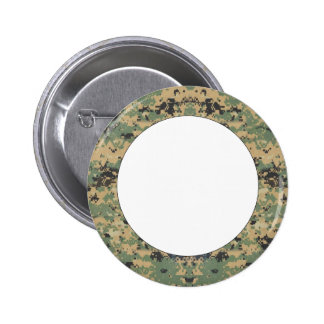 Message on Camo Pinback Buttons