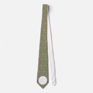 Message on Camo Neck Tie