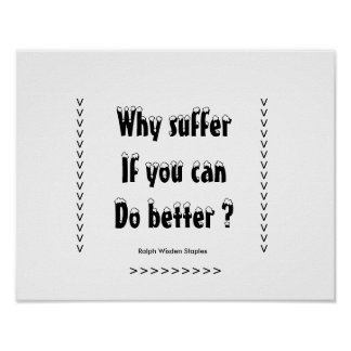 Message on suffering motivational poster