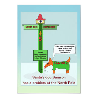 Message problem at the North Pole Card