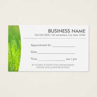 Message Therapy Spring Green Spa Appointment Business Card