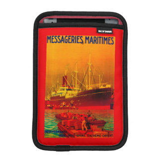 Messageries Maritimes Vintage PosterEurope Sleeve For iPad Mini