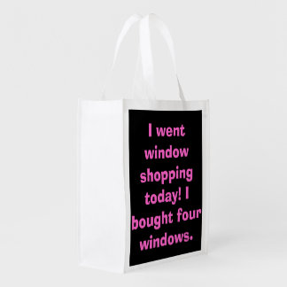 messages case reusable grocery bag
