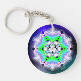 Messages in Light/Finding Inner Peace Keychain